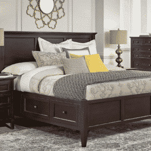 West Lake Storage Bed - Dark Mahogany