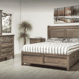 Farmhouse Sleigh Storage Bed