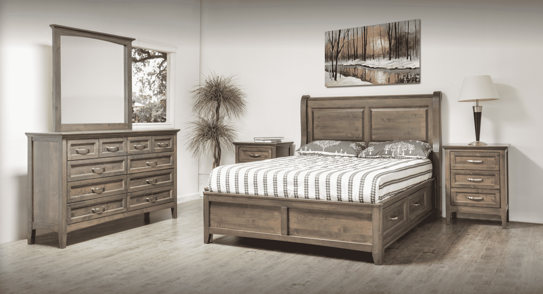 Farmhouse Sleigh Storage Bed
