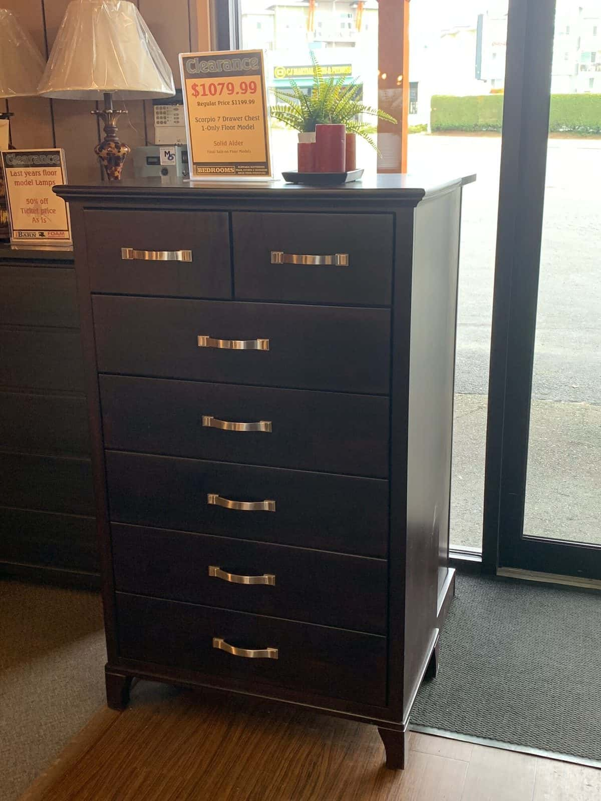 Scorpio 7 Drawer Dresser - Chocolate Stain